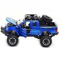 Машинка ігрова Автопром «Ford F-150» Синій зі світловими і звуковими ефектами (7865), фото 6