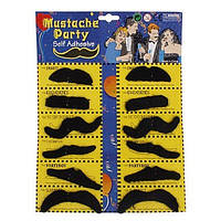 Накладные усы для вечеринок (mustache party) 6 шт