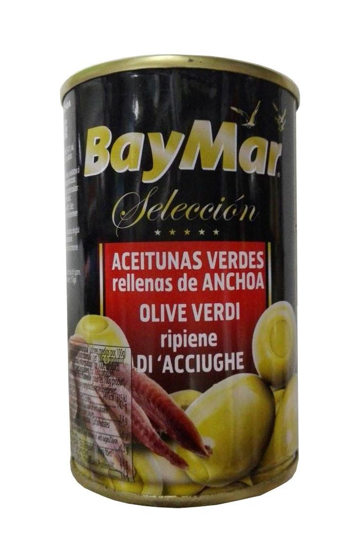 Оливки BayMar фаршировані анчоусом 350г