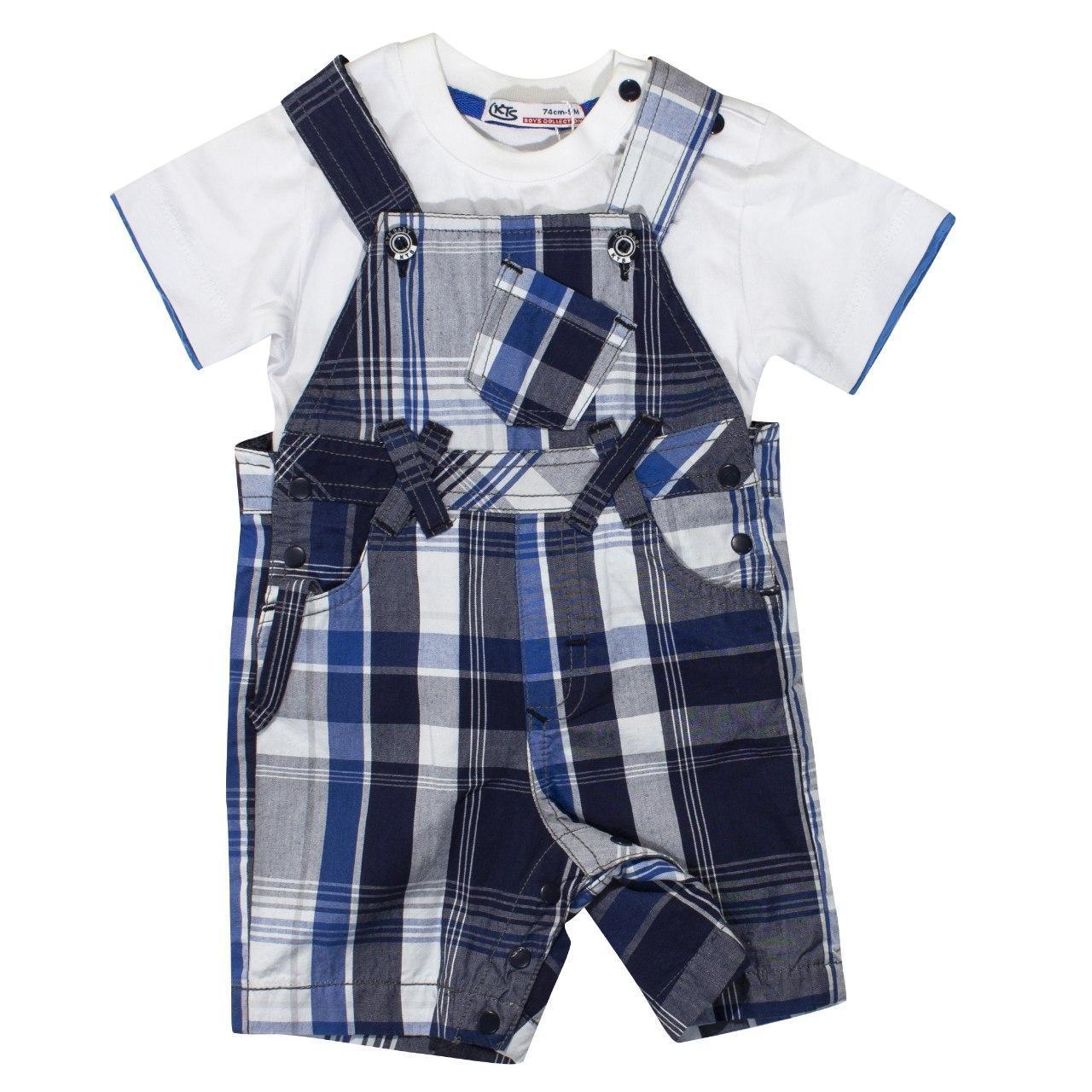 Комбинезон и футболка для мальчика, размеры 9, 18 мес