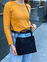 Женская замшевая сумка с камнями на и через плечо Polina & Eiterou, фото 4