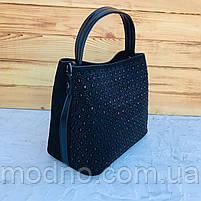 Женская замшевая сумка с камнями на и через плечо Polina & Eiterou, фото 6