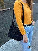 Женская замшевая сумка с камнями на и через плечо Polina & Eiterou, фото 3