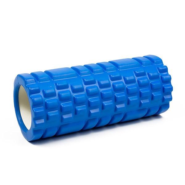Розпродаж! Масажний валик/ролик для фітнесу/йоги, Синій з великими секціями, роллер для масажу спини