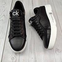 Мужские кожаные кеды (туфли)мужская обувь полностью из натуральной кожи