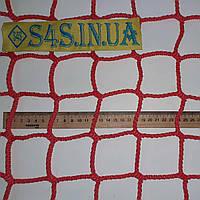 Заградительная сетка для спортзала безузловая испанская, полипропилен, D – 5 мм, ячейка – 6 см, красная, фото 1