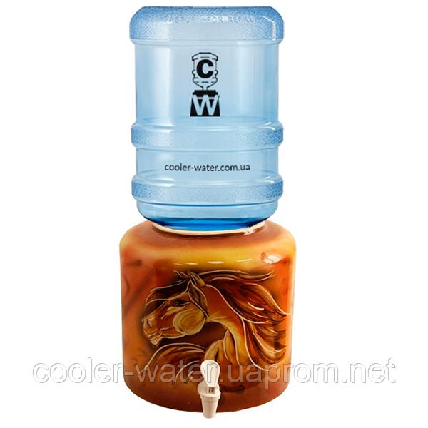Керамический диспенсер для воды «Лошадь»