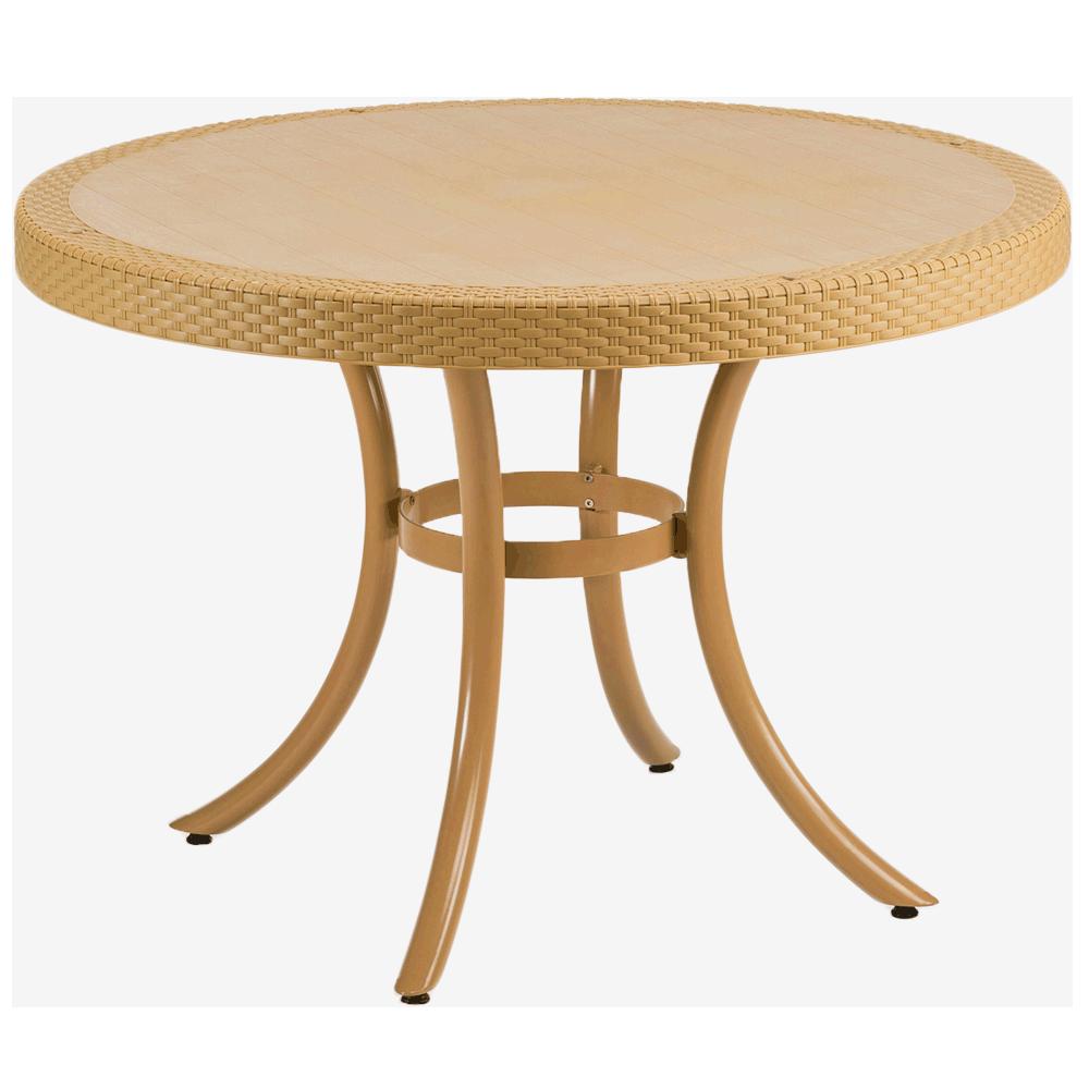 Стол Tilia Osaka d110 см ножки алюминиевые цвет дерево