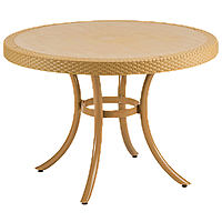 Стол Tilia Osaka d110 см ножки алюминиевые цвет дерево, фото 1