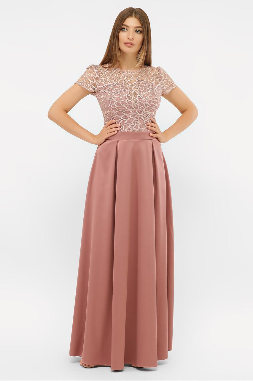 Вечернее платье в пол с вышивкой Лорена