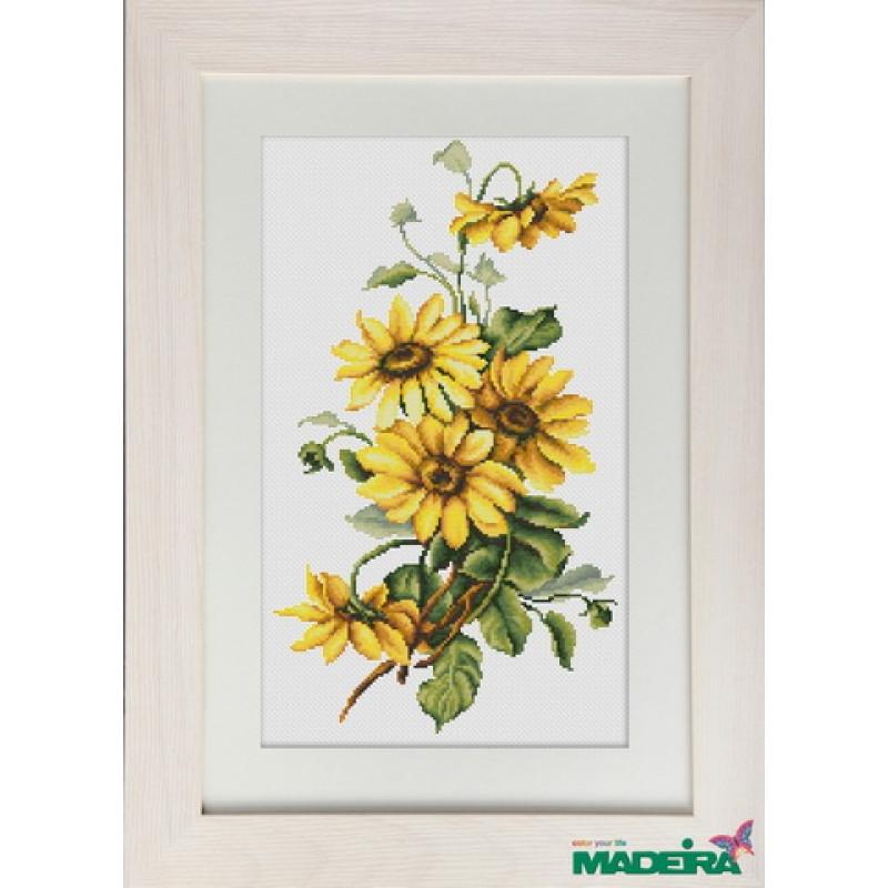 Набор для вышивания нитками Luca-S Цветы Желтые цветы