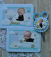 Набір Ножиці і конверт для локона на рік у стилі Бос Молокосос (Baby Boss), фото 1