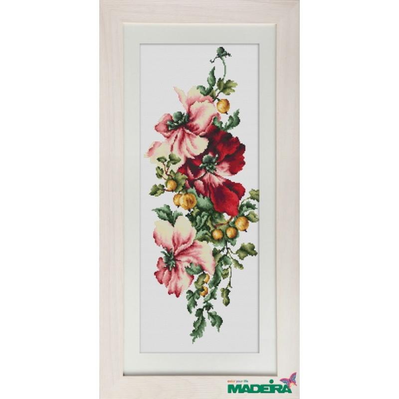 Набор для вышивания нитками Luca-S Цветы Композиция с цветами