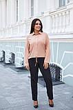Женская блузка софт длинный рукав 4 цвета размер: от 42 до 58, фото 2