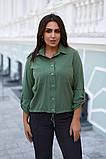 Женская блузка софт длинный рукав 4 цвета размер: от 42 до 58, фото 3