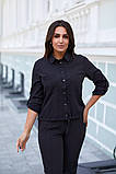 Женская блузка софт длинный рукав 4 цвета размер: от 42 до 58, фото 5