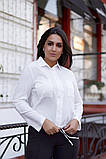 Женская блузка софт длинный рукав 4 цвета размер: от 42 до 58, фото 4