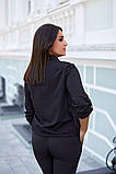 Женская блузка софт длинный рукав 4 цвета размер: от 42 до 58, фото 6