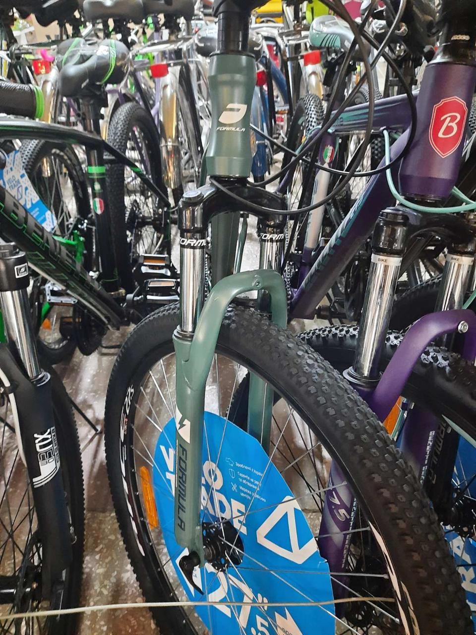 """Велосипед горный мужской 27.5"""" Formula Thor 1.0 2020 алюминиевая рама 19"""" нефритово-синий с белым"""