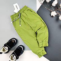 Детские теплые штаны  с плащевки на флисе (7шт) на мальчика на девочку оптом , 86-116