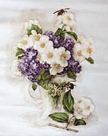 """Набор для вышивания крестом """"Luca-s"""" В512 Ваза с цветами жасмина"""