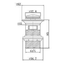 Клапан донний Pop-up, хром PP280 stribro /хром Imprese, фото 2