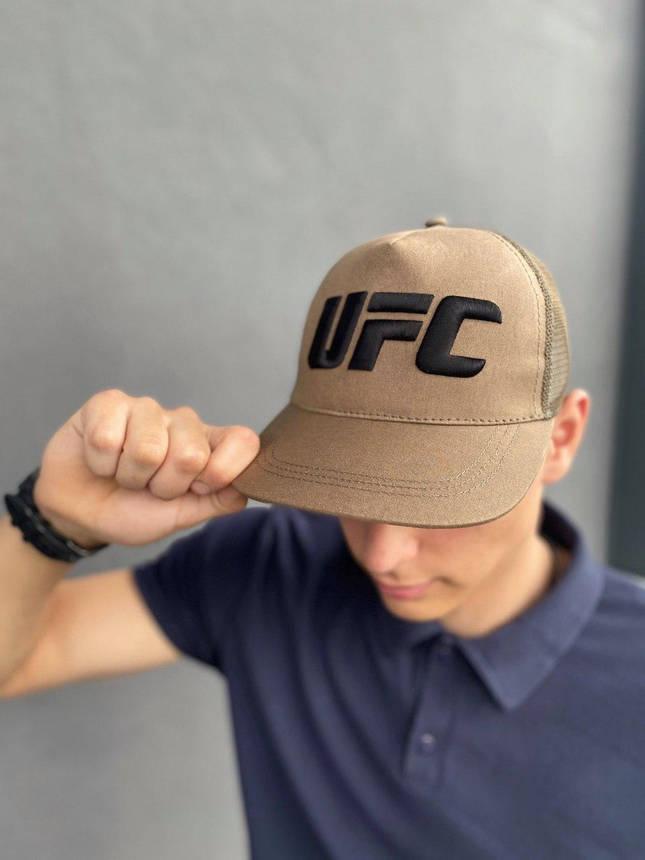 Кепка UFC Reebok мужская | женская рибок хаки big logo, фото 2