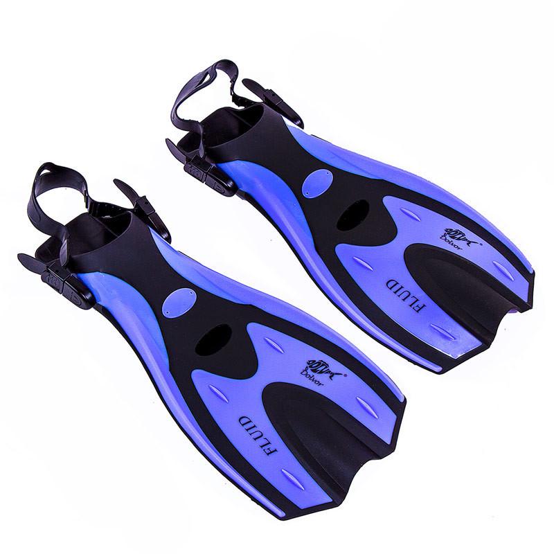 Ласты для плавания с открытой пяткой регулируемые Dolvor F70 размер 36-39 фиолетовый