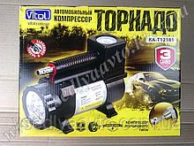 """Компрессор """"Торнадо"""" КА-Т12181 150psi/14Amp/35л/прикур./фонарь/шланг 3,0м VITOL"""
