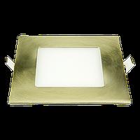 """Светодиодный светильник 12W """"квадрат-хром"""" 4000К"""