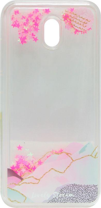 Накладка Xiaomi Redmi8A pink Stars аквариум
