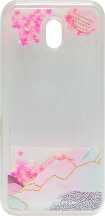 Накладка Xiaomi Redmi8A pink Stars аквариум, фото 2