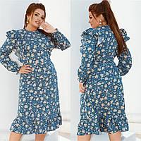 Жіноче плаття великого розміру.Розміри:48/50,52/54,56/58., фото 1