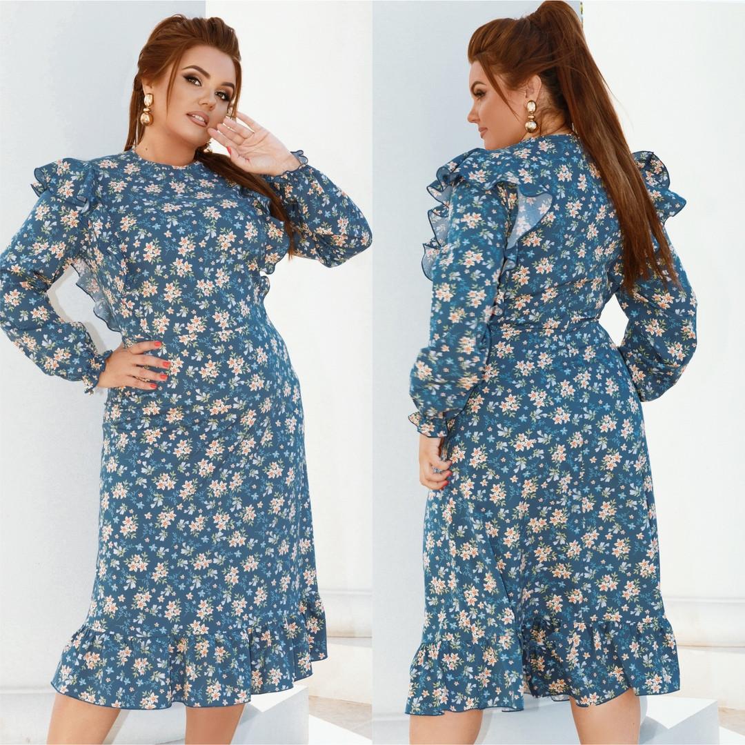 Жіноче плаття великого розміру.Розміри:48/50,52/54,56/58.