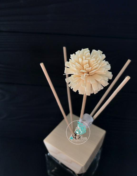 Натуральні ротангові палички з квіточками гомфрена з дерева для дифузора 7 - 25 cm (1шт)