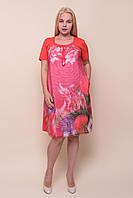 Жіноче кораловое плаття батал. Туреччина. Продаж оптом і в роздріб. Відео в описі, фото 1
