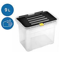 Ящик-контейнер для хранения Heidrun Dragon One пластиковый с крышкой и клипсами 30х23 h20см 9л