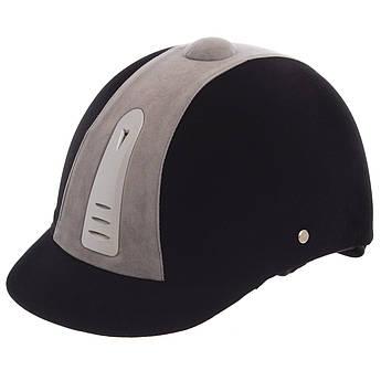 Шлем для верховой езды (ABS, р-р 54, черный-белый)