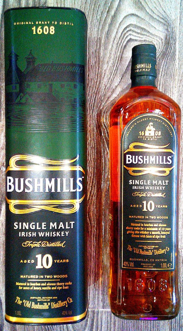 Ирландский виски Bushmills Single Malt 10 Years Old 1л, фото 1