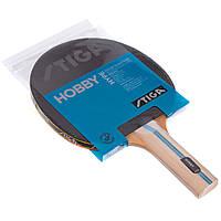 Ракетка для настольного тенниса 1 штука STIGA HOBBY HYPE (древесина, резина)
