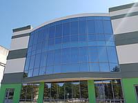 Стоечно-ригельное фасадное остекление алюминиевым профилем системы Текно Фасад 50 проэктирование и монтаж