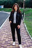 Cпортивный костюм двойка кофта на молнии+штаны ткань двухнить размер:универсал 48-50, фото 3