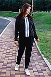 Cпортивный костюм двойка кофта на молнии+штаны ткань двухнить размер:универсал 48-50, фото 5