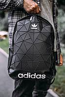 Рюкзак Adidas (Адидас) Нейлон, код IN-302. Черный