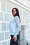Женская стильная кофта свитер коттон+акрил рукав 3/4 размер универсальный 48-52, фото 2
