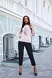 Женская стильная кофта свитер коттон+акрил рукав 3/4 размер универсальный 48-52, фото 4