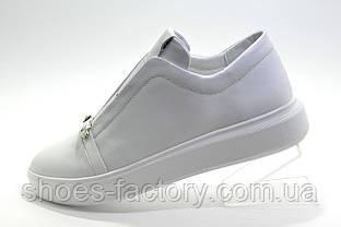Женские кожаные кроссовки Ditas белые