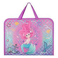 Папка-портфель yes на молнии с тканевыми ручками mermaid yes 491821