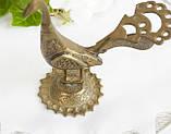 Старая миниатюра, коллекционная бронзовая птица, павлин, бронза, литье, Германия, фото 2