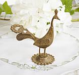 Старая миниатюра, коллекционная бронзовая птица, павлин, бронза, литье, Германия, фото 4